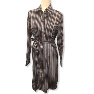 Brooks Brothers Long Sleeve Shirt Dress 12